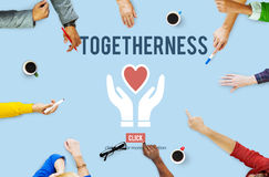 Togetherness Unity Design Icon Heart Concept Stock Photos