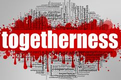 Togetherness word cloud. Creative illustration of idea word lettering typography . 3D rendering Stock Image
