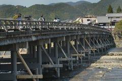 Togetsu桥梁(京都) 免版税库存照片