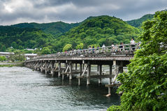 Togetsu-kyo Bridge in Arashiyama district Royalty Free Stock Photos