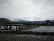 Togetsukyo Bridge after rainfall royalty free stock image