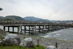 Togetsukyo在京都日本 免版税库存照片