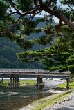Togetsukyo Bridge. In Arashiyama, Kyoto, Japan Royalty Free Stock Photo