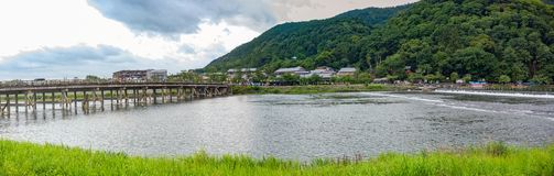 Free Togetsukyo Bridge And Katsura River In Arashiyama, Kyoto, Japananorama Royalty Free Stock Photography - 159189287