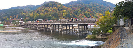 Togetsukyo Bridge of Arashiyama Royalty Free Stock Photography