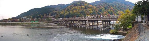 Togetsukyo Bridge of Arashiyama. Bamboo Grove forest, Kyoto, Japan - Photo taken on November 6th, 2015 Stock Image