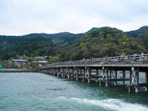 Togetsukyo Bridge at Arashiyama Royalty Free Stock Photo