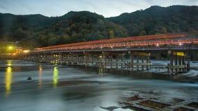 Togetsukyo Bridge and Katsura River, Arashiyama Royalty Free Stock Photography