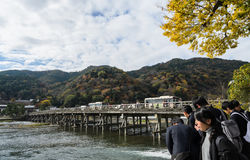 Togetsukyou Bridge during autumn season in Arashiyama, J Stock Photography