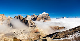 Панорама итальянки Альпов - группы Togfana стоковое фото