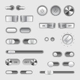 Toggle switch buttons vector set Stock Photo