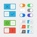 Toggle switch icons Royalty Free Stock Photography