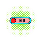 Toggle switch in No position icon, comics style Royalty Free Stock Photography