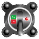 Toggle Switch off Panel , 3d on white background Stock Photography