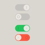 Toggle Switch On and Off position. Button, raster Royalty Free Stock Photos