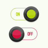 Toggle Switch On and Off. Position. Button. ui interface stock illustration