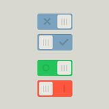 Toggle Switch On and Off position. Button. Vector Illustration Royalty Free Stock Images