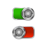 Toggle Switch On and Off position, On/Off sliders-3 Stock Photo