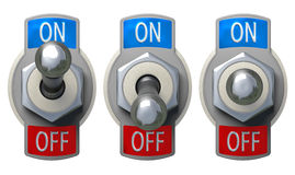 Toggle Switch set with clipping path Royalty Free Stock Images