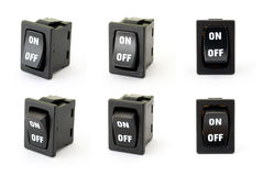 Toggle switch. On the white background royalty free stock photos