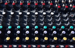 Toggle twój DJ kontrolera Zdjęcia Stock