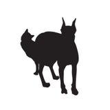 Togheter Vectorial del cane e del gatto Fotografia Stock Libera da Diritti