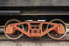 Togliatti, Russland, Rad von einer Dampfmaschinenlokomotive stockfotos