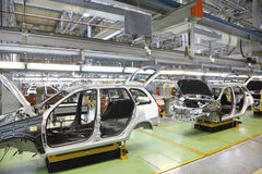 Bodies of new passenger cars at Avtovaz factory Stock Photography