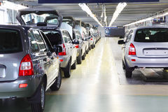 New shiny passenger car at Avtovaz factory Stock Photos
