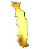 Togo 3d Golden Map Stock Photos
