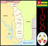 Togo Administrative divisions Royalty Free Stock Images