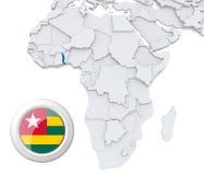Togo auf Afrika-Karte vektor abbildung