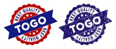 Togo Best Quality Stamp con superficie sporca Fotografia Stock