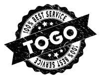 Togo Best Service Stamp con effetto graffiato Fotografia Stock