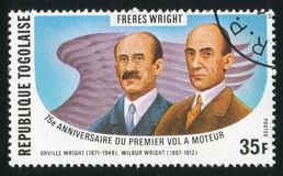 Orville and Wilbur Wright Stock Photography
