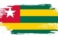 Togo dnia niepodległości świętowania karta Szczotkarski uderzenie wakacje tło Zdjęcia Royalty Free