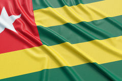 Togo Flag Stockfotos