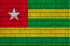 Togo flag painted on a brick wall Royalty Free Stock Photo