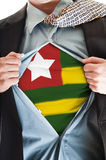 Togo flag on shirt Stock Image