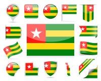 Togo Flag Vector Set Imágenes de archivo libres de regalías