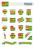 Togo Flag Vector Set Foto de archivo