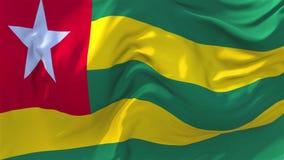 Togo Flag Waving en fondo inconsútil continuo del lazo del viento libre illustration