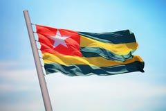 Togo flaga Fotografia Royalty Free