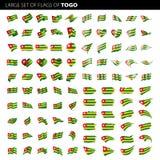 Togo flagga, vektorillustration Arkivfoto
