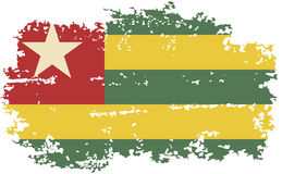 Togo grunge flag. Vector illustration. Stock Photography