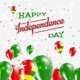 Togo Independence Day Patriotic Design ilustração do vetor