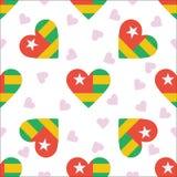 Togo Independence Day Seamless Pattern Immagini Stock Libere da Diritti
