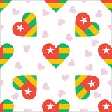 Togo Independence Day Seamless Pattern Fotografering för Bildbyråer