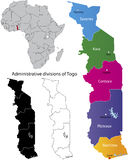 Togo map Royalty Free Stock Image