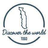 Togo Map Outline El vintage descubre el mundo Fotos de archivo libres de regalías